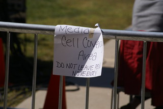 Media cell coverage area. Do not leave pen. No re-entry. | by marcn