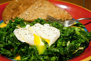 Poached Egg on Sauteed Kale | by caroline.angelo