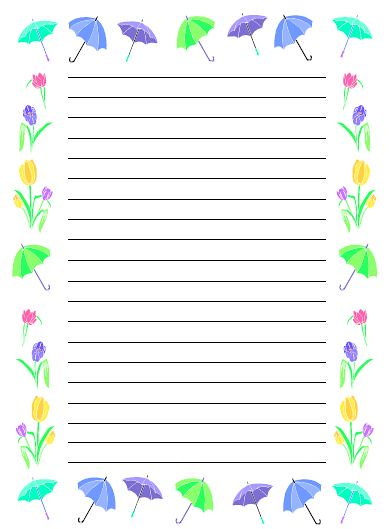Spring Writing Paper | This is a 35 page download ( @ www.ch ...