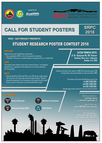 SRPC 2016 1st Flyer | by Ikatan Ahli Geologi Indonesia