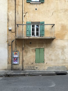Building with shutters in Avignon | by Kate Wirth