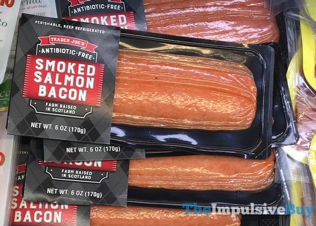 trader joe u0026 39 s smoked salmon bacon