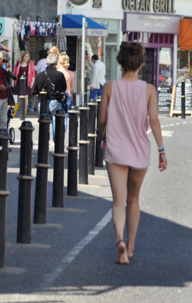 Heading For The Naturist Beach