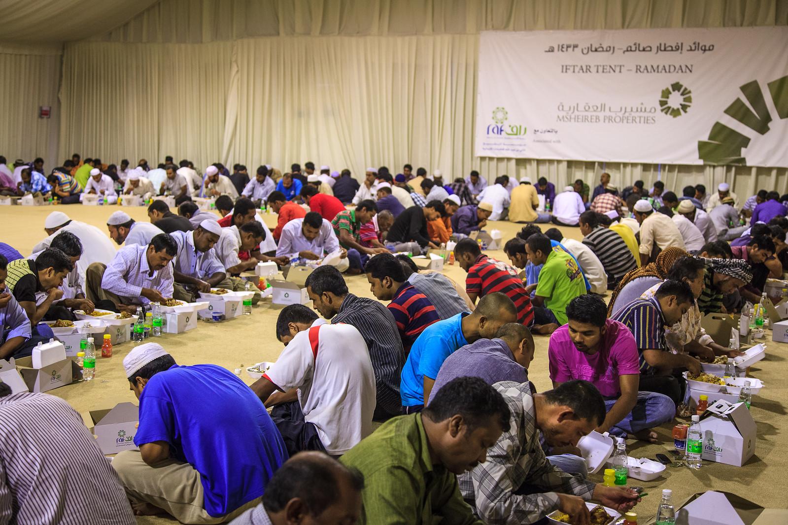 Inside a Ramadan tent