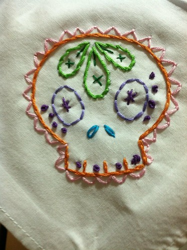 Sugar Skull Cocktail Napkin | by tw715