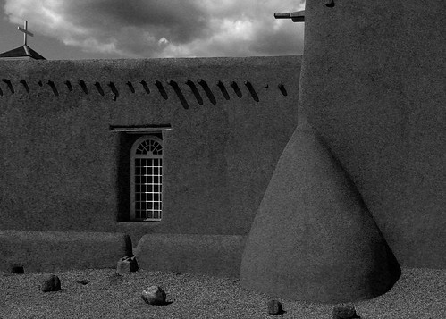 San Francisco de Asis Mission Church (black and white) | by mothernature photography