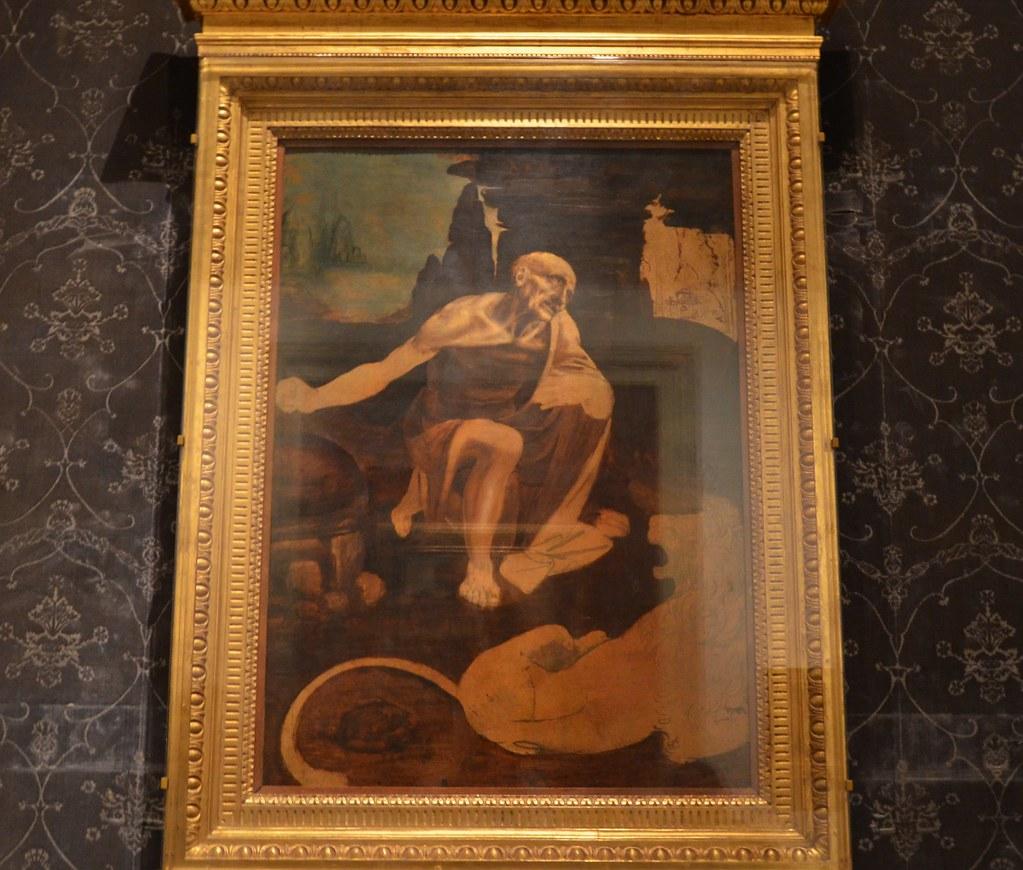 Leonardo da Vinci, St. Jerome in the Wilderness, unfinishe