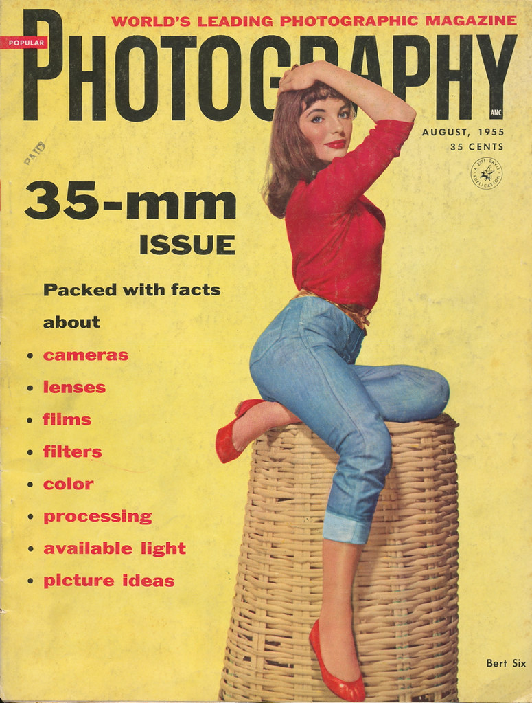 Popular Photography Magazine / Cover - August, 1955