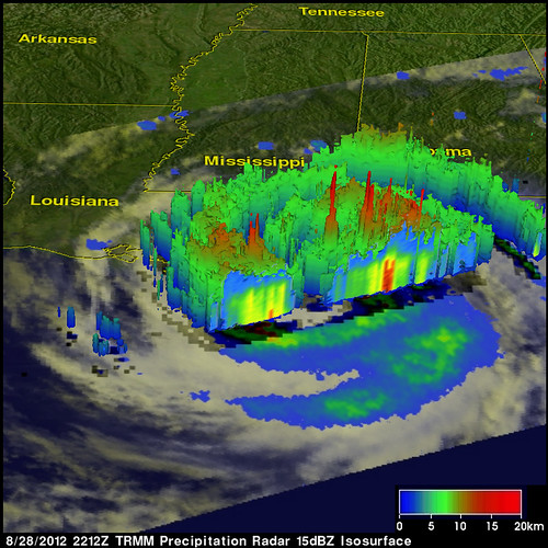 NASA's TRMM Satellite Sees Hurricane Isaac Drench Louisiana [3D View] | by NASA Goddard Photo and Video