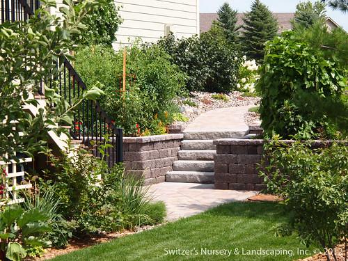 Under Deck Garden Ideas : Paver patio under deck with retaining wall steps minne
