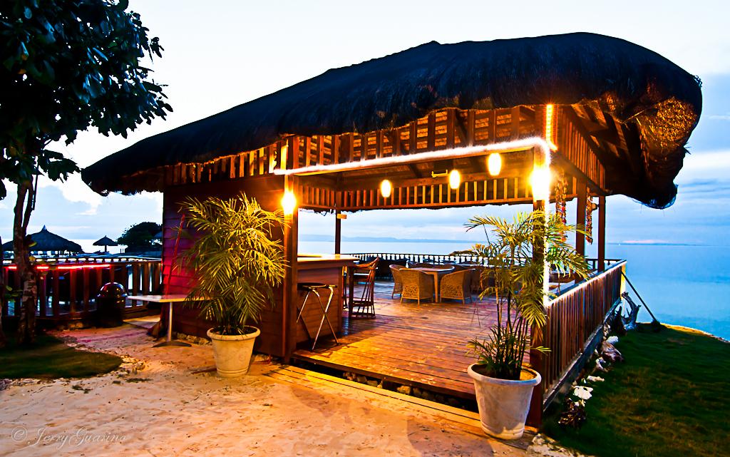 Mangodlong Paradise Beach Cafe At Dusk Philippines