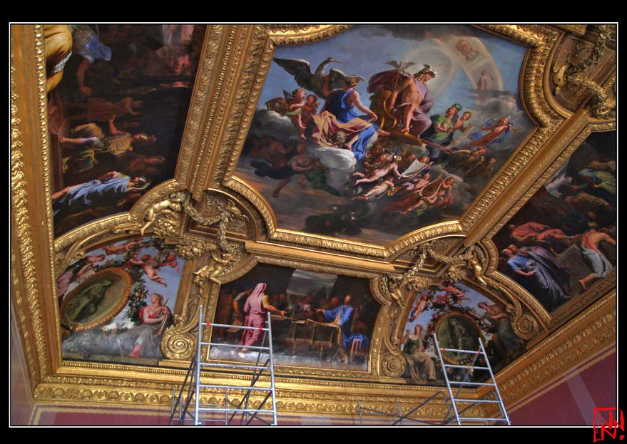 Le Plafond Du Salon De Mercure Restaur Le Salon De