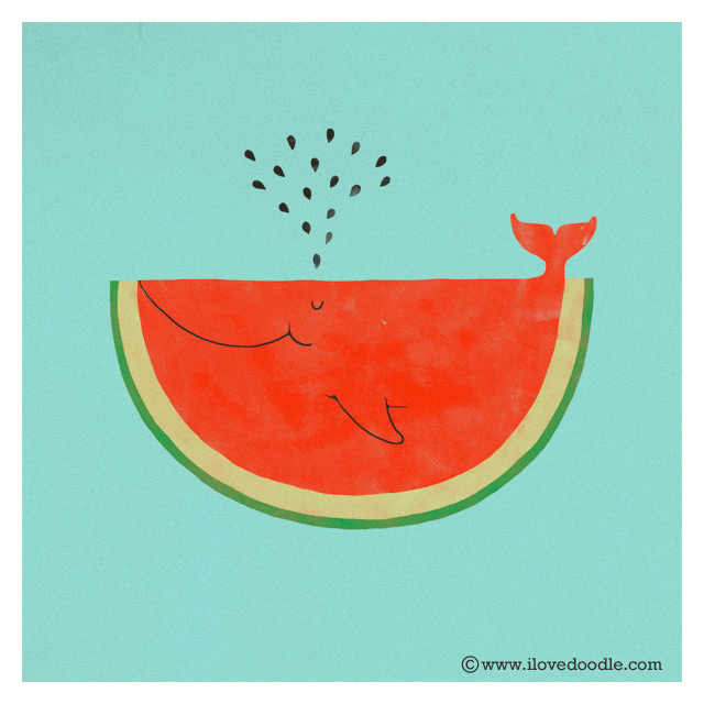 My cat can eat a whole watermelon doodle everyday 336 for What parts of a watermelon can you eat