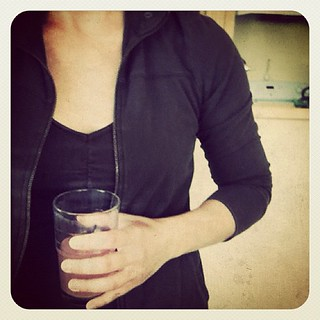Zip-up sweater + emergen-C drink. Hello, fall. | by mightymarce