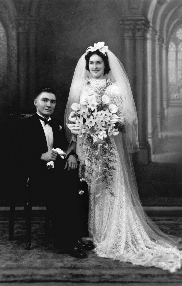 Cyril And Grace Jackson On Their Wedding Day 1930 1940