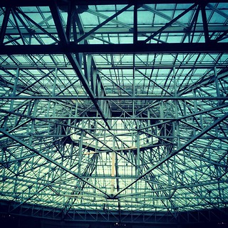 the ceiling of the hotel #icanseethesky #birdsnest | by hashisauce