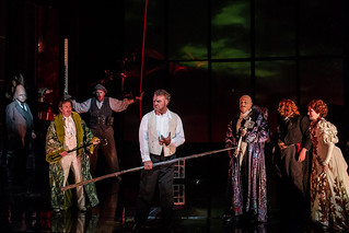 Eric Halfvarson as Fafner, Andrew Rees as Froh, Iain Paterson as Fasolt, Bryn Terfel as Wotan, Peter Coleman-Wright as Donner, Stig Andersen as Loge and Sarah Connolly as Fricka  © Clive Barda/ROH 2012 | by Royal Opera House Covent Garden