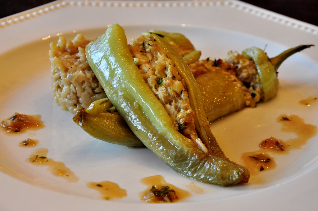 Hot Italian Banana Peppers Stuffed With Fresh Herb Risotto -4895