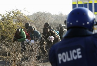 Clashes between mineworkers and police at the Marikana mines where platinum is extracted. Official reports indicate around 44 have died over the last week. | by Pan-African News Wire File Photos