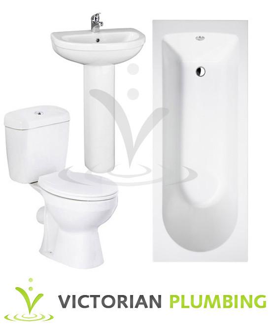 Melbourne 5 piece bathroom suite 3 bath size options for Bathroom 3 piece suite