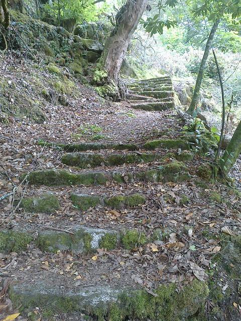 Escaleras en el PR-G 35 O Río dos Dous Nomes