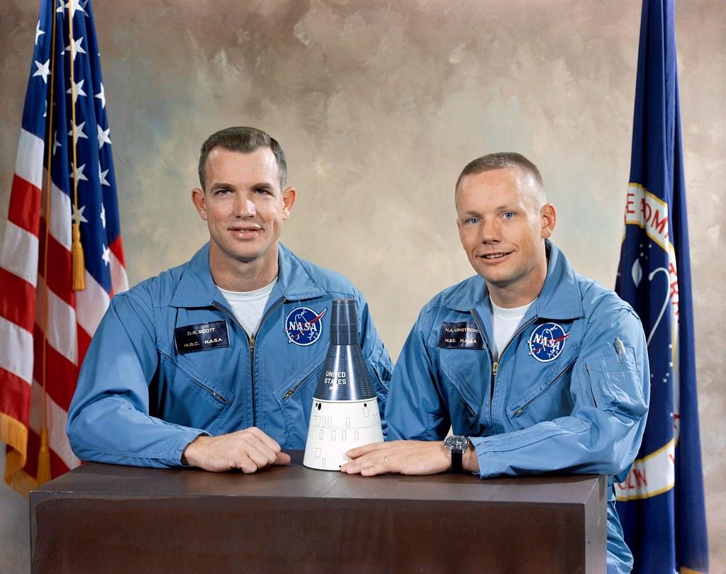 Portrait of the Gemini 8 prime crew