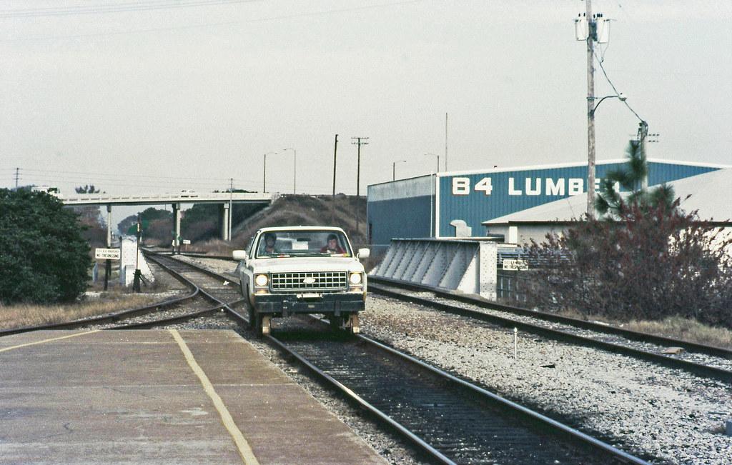 Seaboard Coast Line Hy Rail Vehicle Is Arriving On A Platf