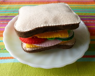 : Felt play food - Sandwich | by adline✿writes