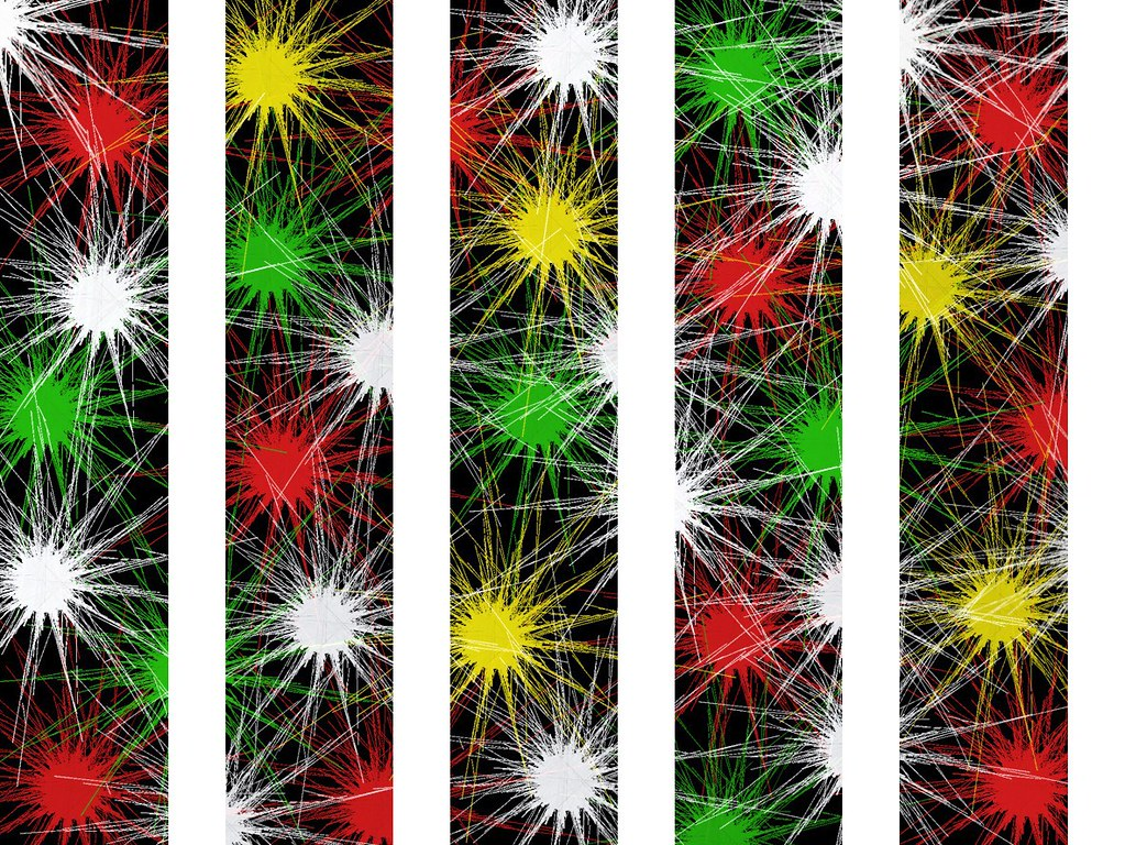 christmas star blasts vertical borders by chrisser