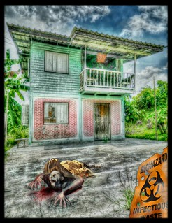Some fun with HDR and the Garden Zombie. by SJC | by Dr. C (Looking for a Publisher)