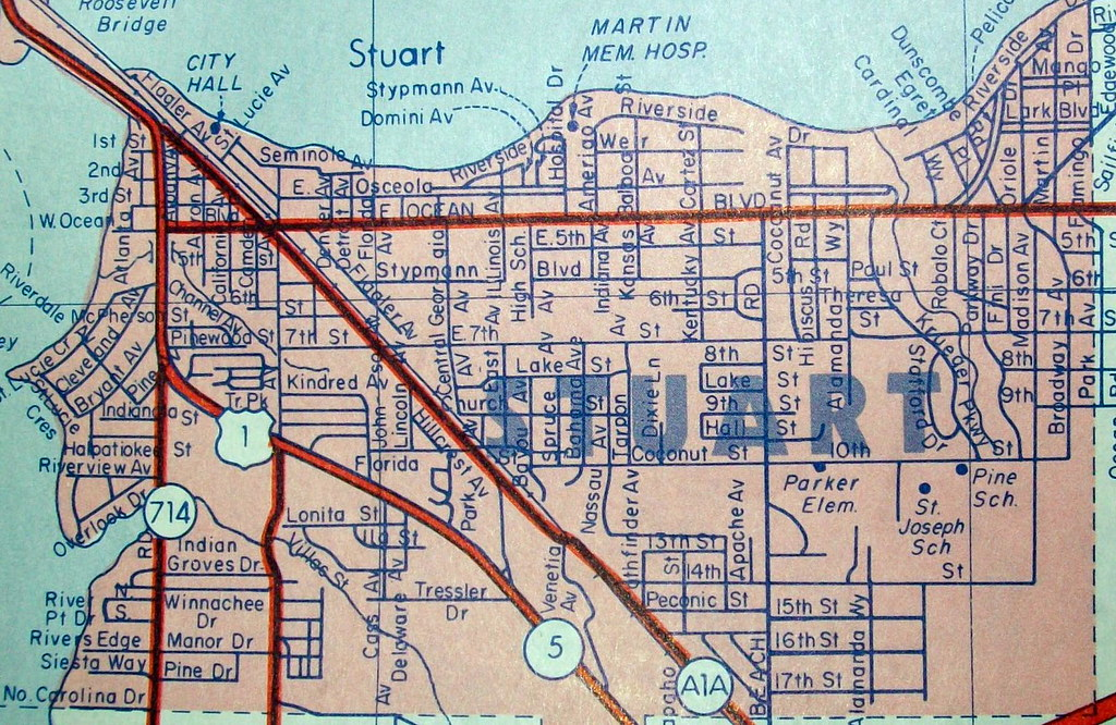 Map Of Stuart Florida.Stuart Fl 1974 Map By Arrow Maps Published For A Magazine Flickr