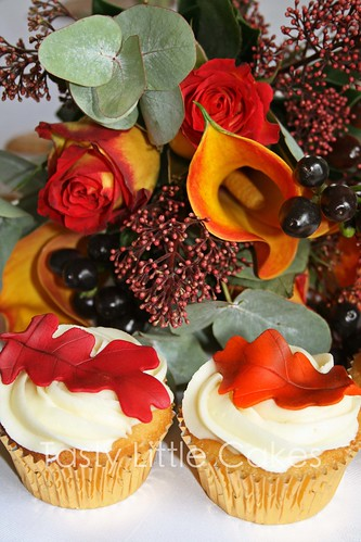 Pippa's Autumn Leaf Wedding Cupcakes | by tastylittlecakes (Karen)