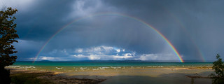 Rainbow over Grand Traverse Bay [Explored] | by Beccah79