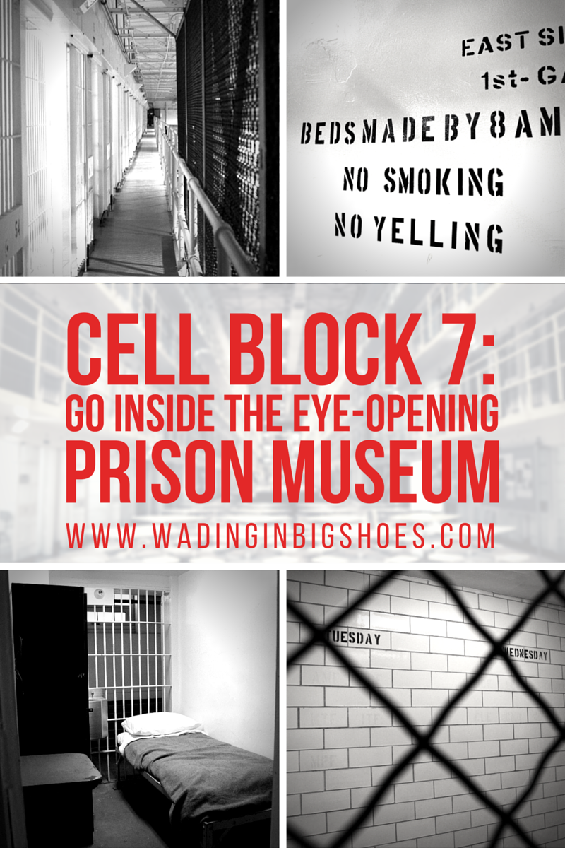 Cell Block 7: Go Inside Jackson's Eye-Opening Prison Museum // Ever wondered what life inside a prison looks like, but don't want to find out the hard way? Take a look inside Jackson's Cell Block 7 prison museum, a formerly active cell block located at the current Michigan Southern Regional Prison! - Click to read more on Wading in Big Shoes (www.wadinginbigshoes.com)