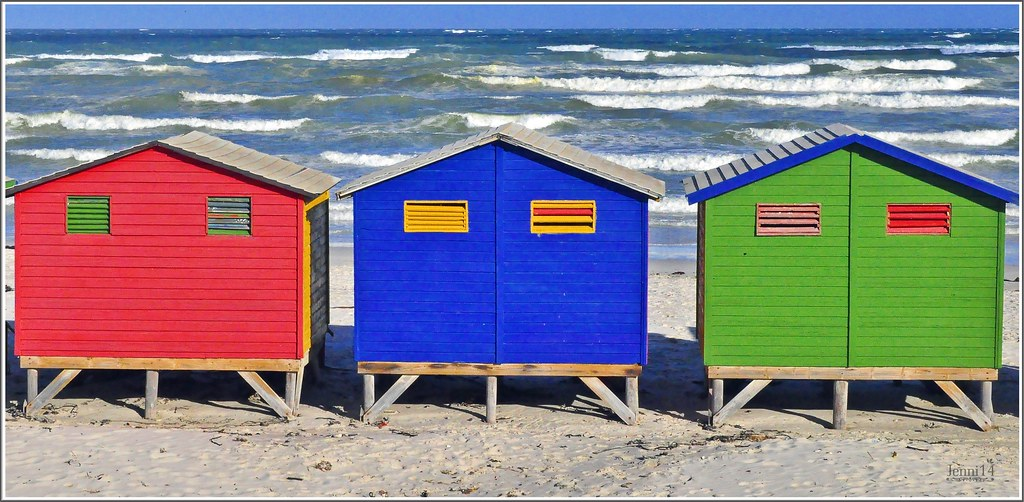Casitas de colores de la playa de muizenberg jenni flickr - Casitas de playa ...
