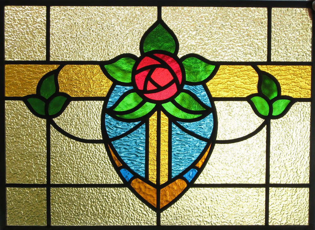 Cottage Rose Stained Glass Window | Sometimes it's fun to ...