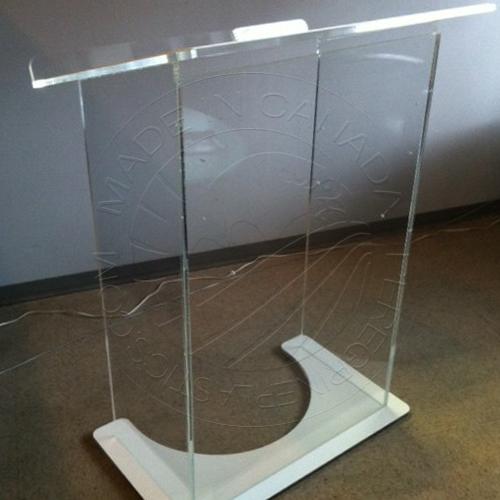 Standard Acrylic Podium 002 | Custom Plastic Fabrication by