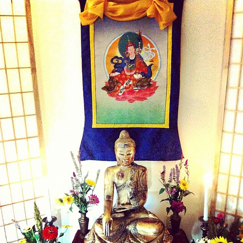 Mitra Shrine with Padmasambhava (Made by Danakamala) | by the buddhist centre