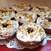 Banana-Sweet Potato Donut with Cream Cheese Frosting and walnuts