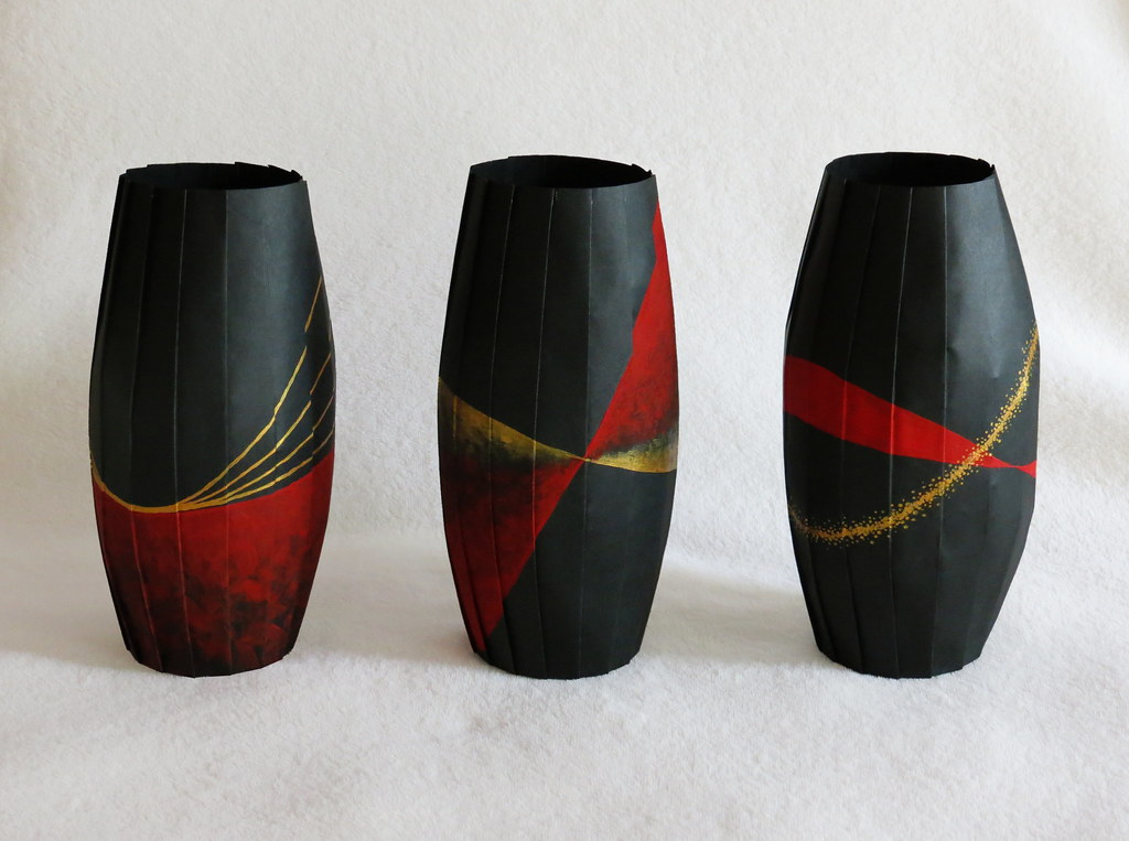 Three Painted Vases Continuing In The Same Theme As My Las Flickr