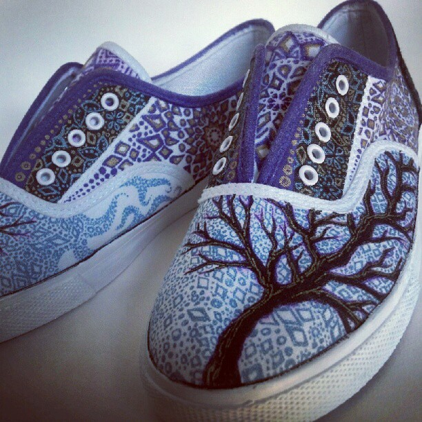 art shoes sharpie and ink on canvas shoe beka butts