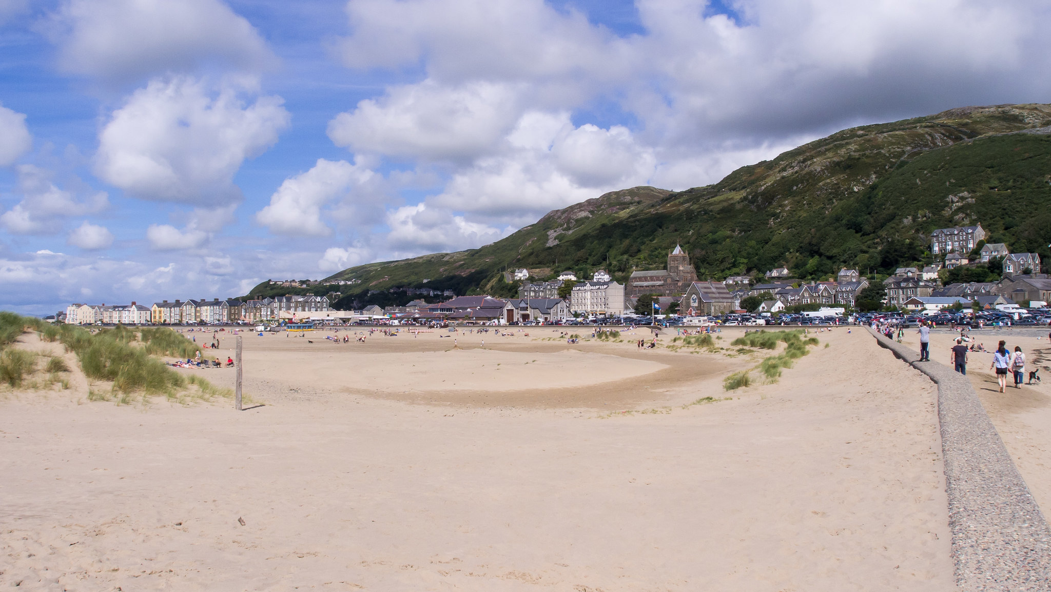 Barmouth town and beach