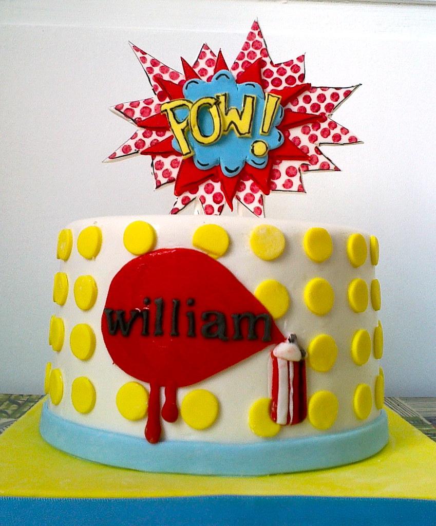 Cake Art N R Colony : Pop Art cake Oooh My Cake! (happy day) Flickr