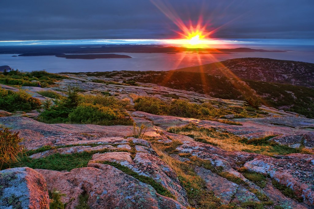 sunrise from cadillac mountain mount desert island me flickr. Cars Review. Best American Auto & Cars Review