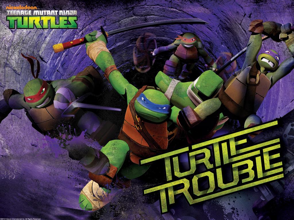 Nickelodeon TEENAGE MUTANT NINJA TURTLES Wallpaper TMNT Trouble 1024x768 R01