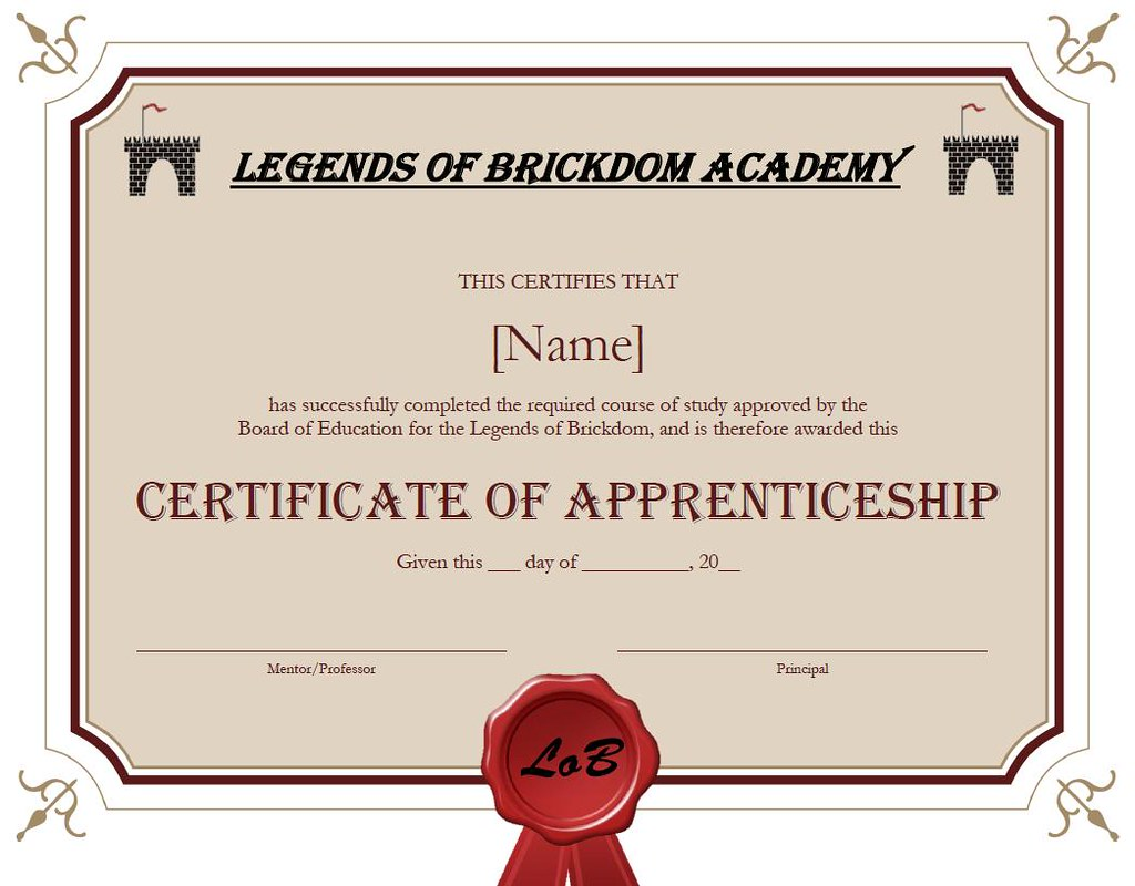 Lob academy certificate of apprenticeship for all members flickr lob academy certificate of apprenticeship by mattiusxavier yelopaper Images