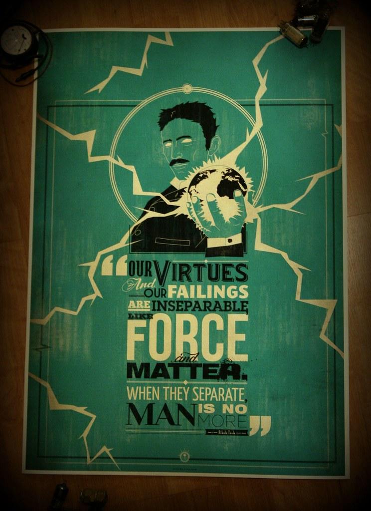 Nikola Tesla Quote Posters Nikola Tesla Quote Posters