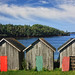 Three Shacks, One New, Red Door