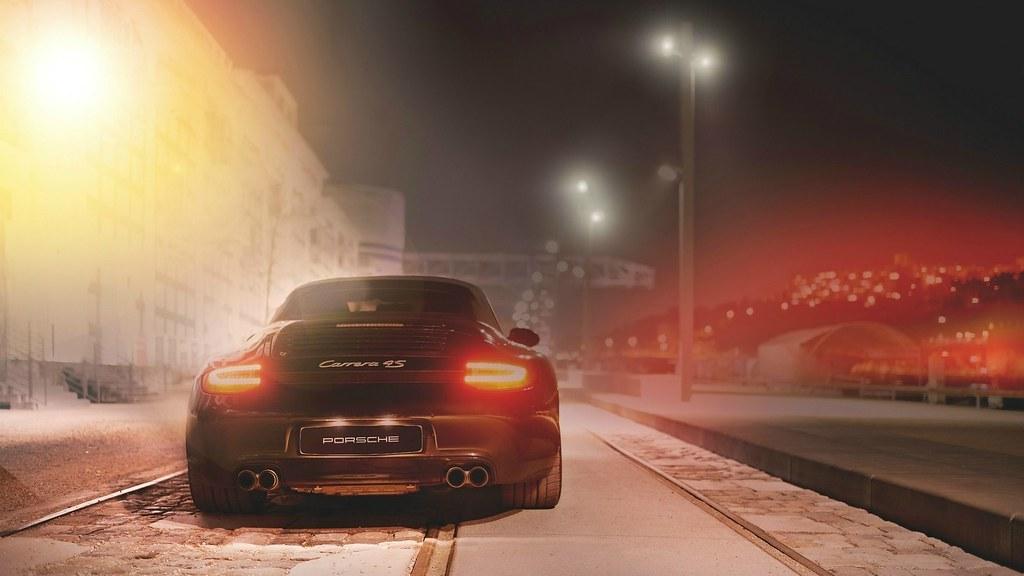 Porsche 911 Carrera 4s Night Street Wallpaper 1920x1080 Flickr