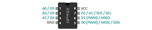 ATtiny85 Arduino Specific Pins